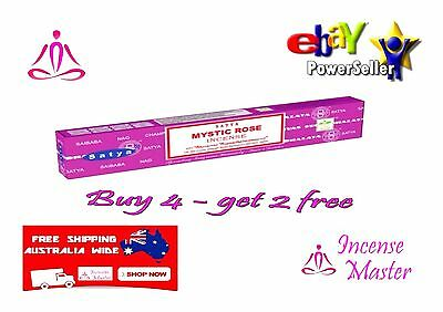 Mystic Rose Incense Stick Satya Sai Baba Nag champa 15g X 1pack + FREE SAMPLES