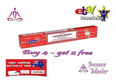 Sandalwood Incense Stick Satya Sai Baba Nag champa 15g X 1pack + FREE SAMPLES