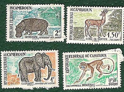Postage stamps Cameroon- 4 stamps
