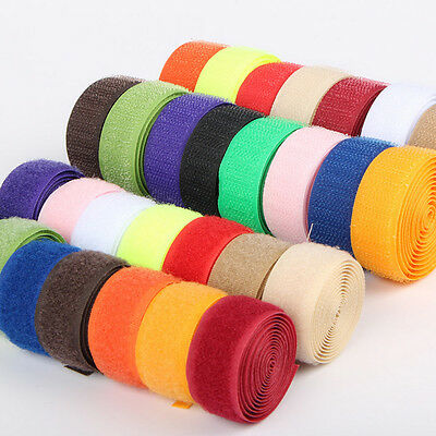 Nylon Adhesive Sticky Tape Hook & Loop Double sided Binding Cable Ties Fastener