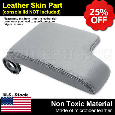 Leather Armrest Console Lid Cover for BMW E46 3 Series 1999-2004 Light Gray LHD