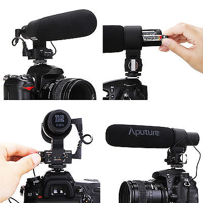 Aputure V-Mic D2 Directional Condenser Shotgun Microphone for DSLR Camcorder