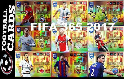 FIFA 365 2016 - 2017 Panini Adrenalyn XL LIMITED + XXL SANCHEZ MESSI NEYMAR RARE