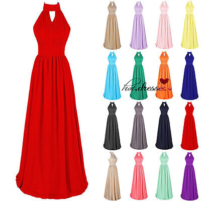 New Hot Long Chiffon Formal Prom Party Ball Gown Evening Bridesmaid Dresses 6-20