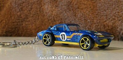 Custom '63 '64 '65 Chevy Corvette Grand Sport 1/64 KeyChain Chevrolet Porte Cles