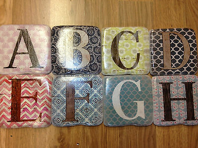Ceramic Stone Resin Alphabet Coffee Tea Drink Glass Shabby Chic Coasters Gifts