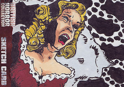 British Horror Collection Sketch Card SK1 By Clinton Yeager