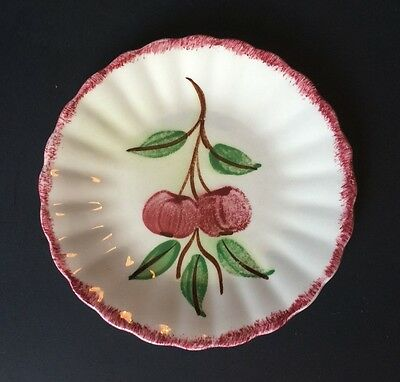 Vintage BLUE RIDGE Southern Pottery CRAB APPLES Cherries SALAD PLATE Unmarked