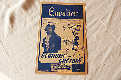 Partition CAVALIER GEORGES GUETARY 1944  ref 454 08