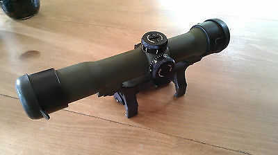 Hensoldt Zeiss Scope ZF 4x24 Z24 - RAL 6031 Bronze-Green - Special Forces Model