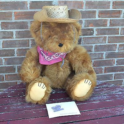 """Cowboy Glen Jointed Teddy Bear 28"""" Annette Funicello Collectible COA Limited Ed"""