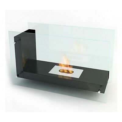 "Ventless ethanol fireplace by Planika ""L"" shape real flame/heat  $495.00"