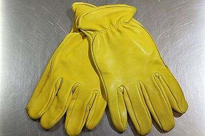 West Chester Men's Unlined Premium Deerskin Leather Work Gloves XL X-Large