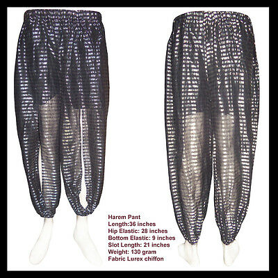 Harem Pants For Belly Dance Made Of Lurex Chiffon