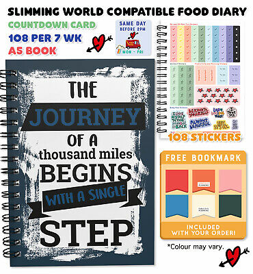 A5 DIET DIARY FOOD JOURNAL SLIMMING WORLD COMPAT 3 MONTH WEIGHT LOSS New Year 13