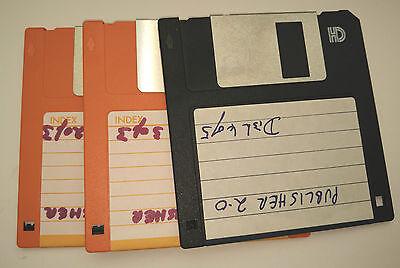 "USED 3.5"" 1.44MB formatted HD floppy disks - checked + formated - 3x"