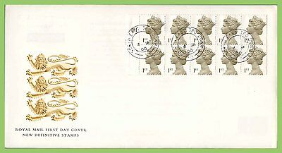 G.B. 2000 Millenium Def. Booklet pane Royal Mail First Day Cover, N.E. TPO