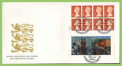 G.B. 1999 Pilgrim Fathers Booklet pane on Royal Mail First Day Cover, Windsor