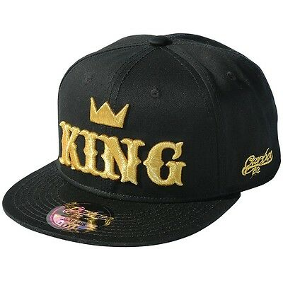 King Love Romance Gold White Embroidery Snapback Hat Caps