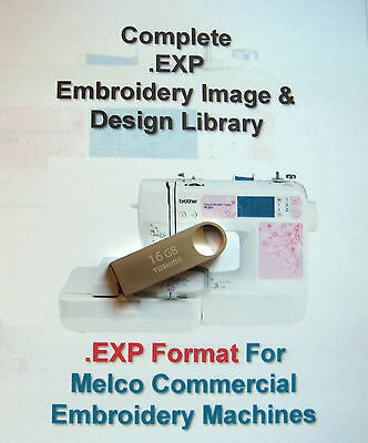 139,877 EXP MELCO Format EMBROIDERY Designs on 16GB USB Stick+ Frozen Designs