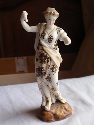 Antique German Continental Porcelain China Muse Lady Young Girl Figure Figurine