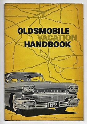 Oldsmobile Vacation Handbook 1958 Tips Suggestions Checklists Songs Games Log