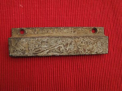 "Antique Cast Iron Drawer Pull Handle 5 1/4"" Ong A4 Victorian 1800's"