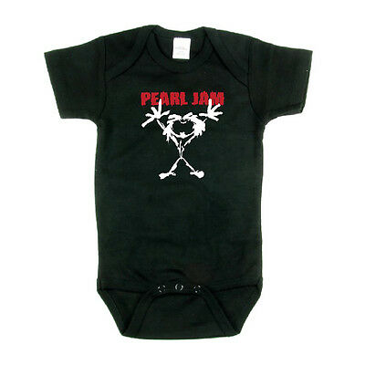 PEARL JAM Stickman Logo Kids Infant One Piece Bodysuit Creeper Romper New
