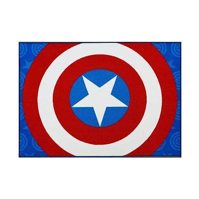 "Marvel Captain America (40""x 54"") Rug Blue & Red"