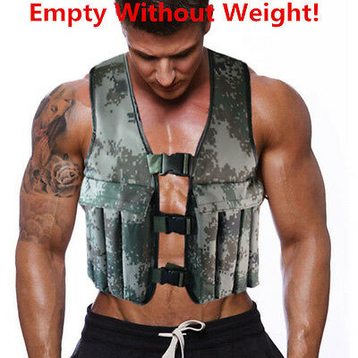 20KG/44LBS Camo Adjustable Weighted Workout Vest Training Jacket Exercise