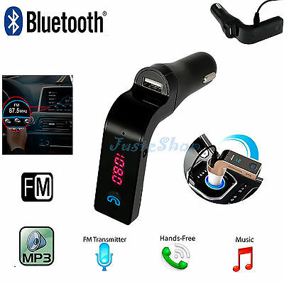 Bluetooth Wireless Handsfree LCD  Car Kit FM Transmitter MP3 USB Charger TF Card