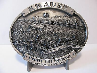 Krause Plow Corp Belt Buckle 1985 Profit Till Systems Limited Edition 395 / 1200