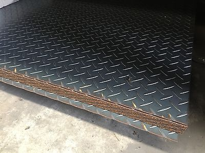 BOX CAR BIKE TRAILER ANY USE  2400x1200x2.1MM CHEQUER PLATE FULL SHEET CHEAP