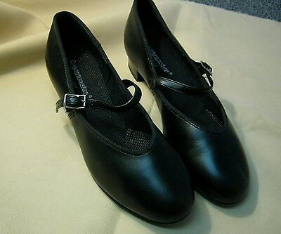 Organ Organmaster Playing Black Strap Stage Play Dance Shoes Womens 8
