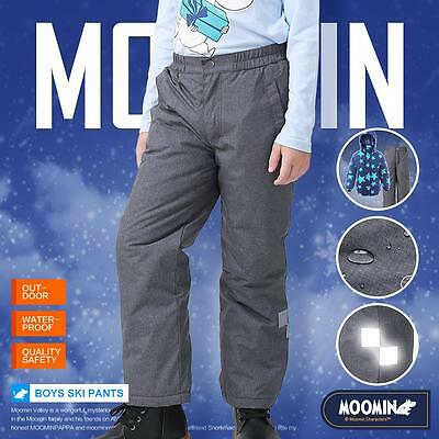 Moomins Kids Boys Ski Pants Winter Trousers Bottom Wadded Waterproof Snowboard