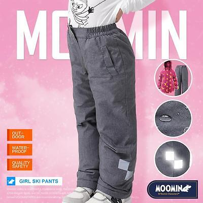 Moomins New Kids Girls Winter Skiing Pants Trousers Bottoms Wadded Waterproof