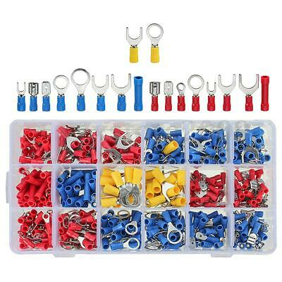 520pcs Assortment Wire Crimp Terminal Auto Wiring Spade Butt Ring Connector Kit