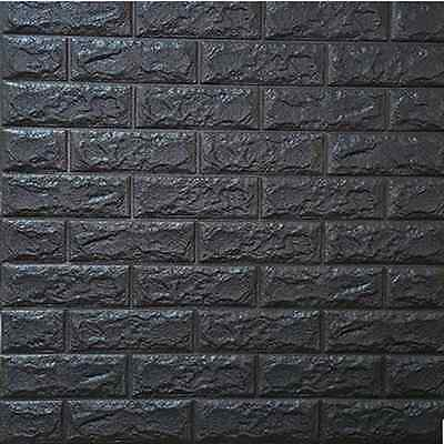 3D Brick Waterproof Wall Sticker Self-adhesive Panels Decal Wallpaper 70*31cm
