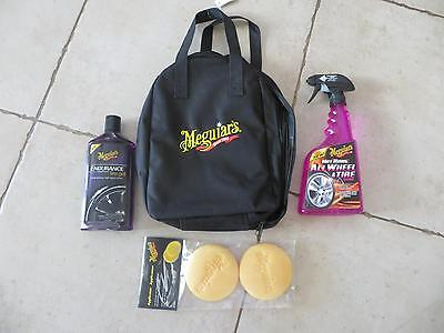 Meguiar's Valise special meeting tuning ALL WHEEL & TIRE CLEANER + gel + pad
