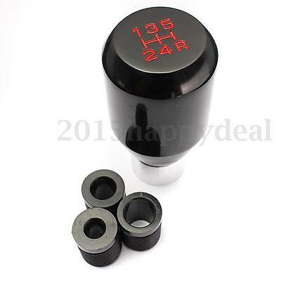 Universal black Car 5 Speed Manual Gear Shifter Stick Shift Knob Lever Aluminium