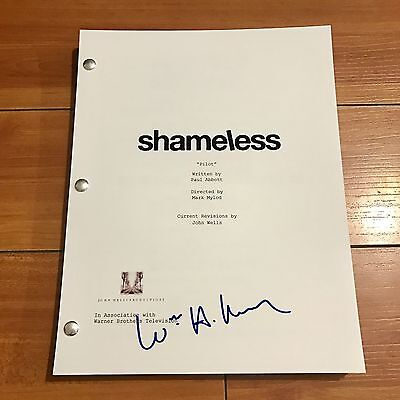 William H. Macey Signed Shameless 69 Page Pilot Episode Script