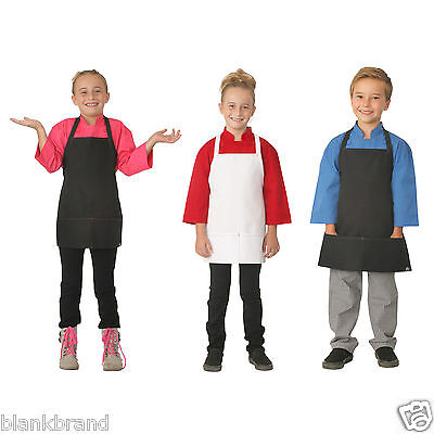 Kids Plain Apron with Piping Contrast | Children Full Bib | Chef Craft Art