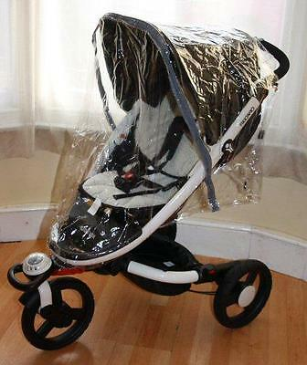 Pvc Zipped Coverall Raincover To Fit Recaro Babyzen Pushchair Brand New