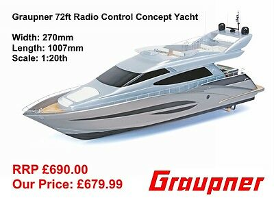 2201 Graupner 72ft Concept Yacht RC Radio Remote Control Marine Boat New Boxed
