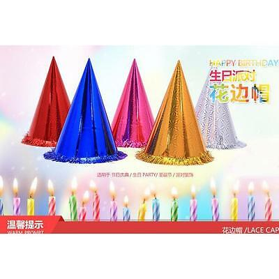 10x Party Xtmas Hats Happy Birthday Decorations Tableware Supplies Cone Caps New
