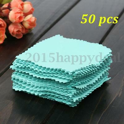 50 Buckskin Jewelry Cleaning Polishing Cloth for Sterling Silver Gold Platinum