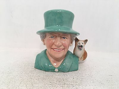 Manor Collectables Celebrating 90th Birthday Queen Elizabeth II Toby Jug Green