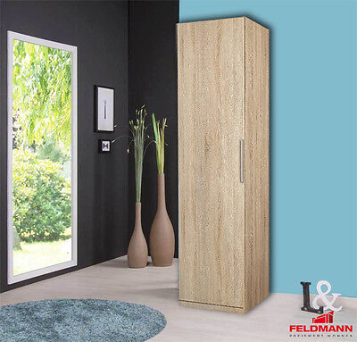 garderobenschrank imperial 2 flur schrank in eiche sonoma und wei 60 cm breit eur 99 95. Black Bedroom Furniture Sets. Home Design Ideas