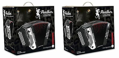 BUY 1 GET 1 FREE NEW Hohner Panther Accordion FBbEb and GCF 2-Pack SET OF TWO