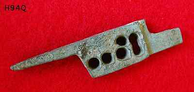 Rare Ancient Roman Bronze Door Lock Bolt Key 1st-3rd Century AD Artifact w/ COA